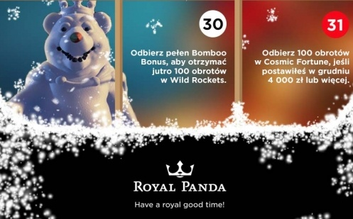 Royal panda free spiny na cosmic fortune 1